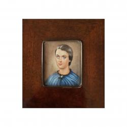Portret kobiety, miniatura – Anna Jaxa-Chamiec